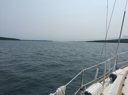 heading up the north channel
