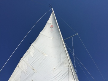 Old sail still catches wind